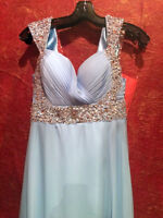Long Light Blue Prom Dress