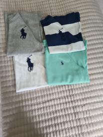 kids ralph lauren tshirt bundle aged 5 and 6