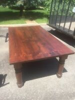 Top Quality Mennonite harvest table, chairs and leaves