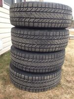 Winter tires on steel rim for sale