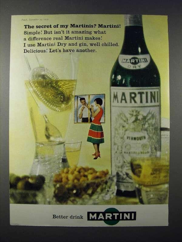 1959 Martini & Rossie Vermouth Ad