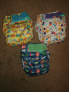 All in one velcro totsbots cloth diaper