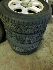 235/65R17 set of 4 All season Tires on Alloy Rims for Dodge/Jeep