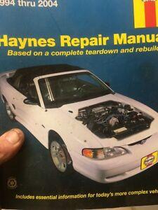 Haynes mustang repair book