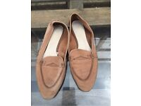 Zara leather shoes in size 7