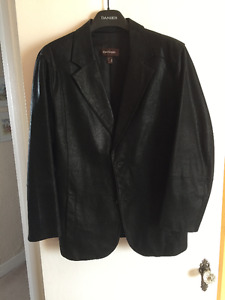 MEN'S BLACK BRUSHED SUEDE DANIER FITTED BLAZER SIZE  XL