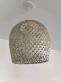 Morrocan Pewter Metal Light Shade New
