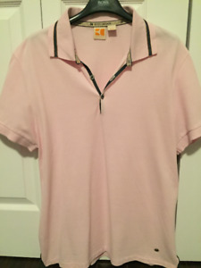 Hugo Boss Polo Shirt Light Pink Size Large BOSS ORANGE