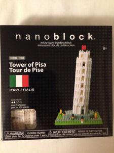 Nano Block Tower of Pisa Building Blocks Toy - Over 530 pcs