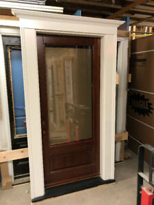 "STILL FOR SALE Solid Cherry Wood Exterior Door 34"" /w Glass"