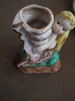 Cute Vintage Mermaid Vase Made In Japan