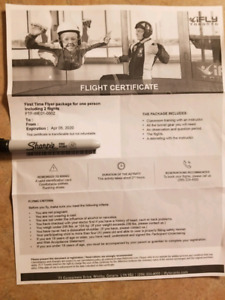 iFly Flight Certificate - Whitby