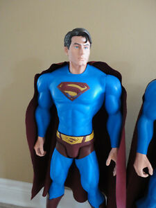 LARGE SUPERMAN MAN ACTION HERO FIGURINE STATUE TOY COLLECTIBLE London Ontario image 3