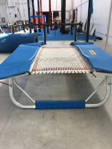 double mini trampoline (slightly used)