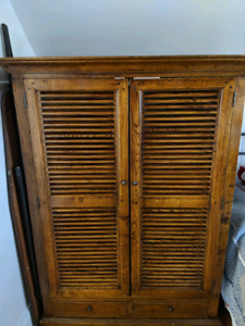 Antique Wardrobe - Solid Walnut