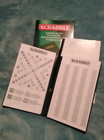 SCRABBLE Scores wallet-New!