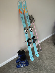 Salomon Skis, Bindings, and Boots with K2 Poles