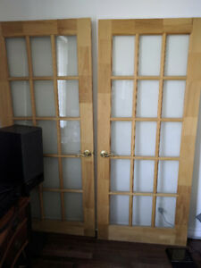French doors, finger-jointed pine