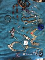 Lots of jewellery including real pearl necklace