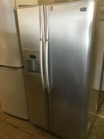 LG Silver Large America style Fridge Freezer with ice maker