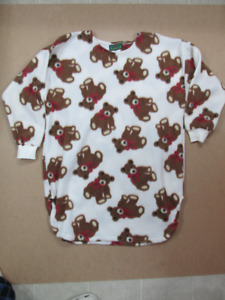 Women's Bears Nightshirt Size L Super Soft & Warm Made in Canada