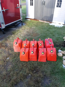 9 gas cans for $7 each