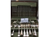 Arthur Price silver plated 60 piece cutlery boxed