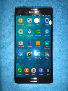 SAMSUNG NOTE4 32GB LIKE NEW,A+;BOX,CHARGER+View Flip Case
