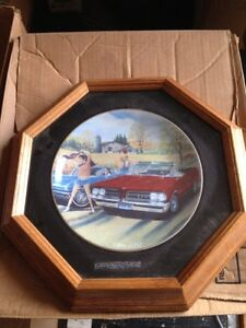 Pontiac GTO Collector Plate in Frame