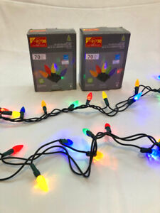 2 Boxes Outdoor Christmas Multicolour LED Lights