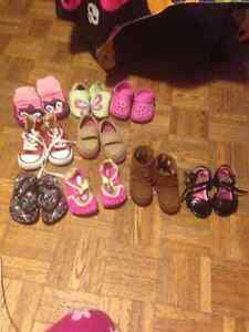Baby girl 12-18 cntd and size 4&5 shoes