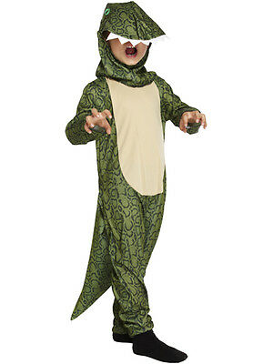 Child Kidz Dragon Dinosaur Fancy Dress Reptile Costume Lizard Kids Boys Girls