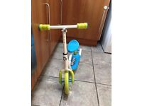 Toddler scooter and balance bike with removable seat