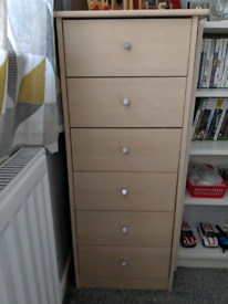Tall Boy Set of Drawers