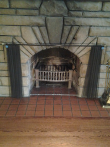 Vintage Cast Iron Fireplace Firebox From 1930's