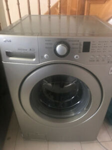 Lg front washer and Electrolux dryer front sale