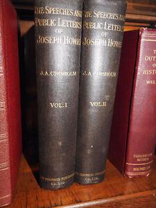 Antique books Speeches & Public Lettersof Joseph Howe 2vols 1909