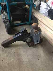 Heavy duty trailer hitch.