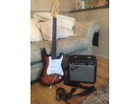 Fender Squire Strat Starter Pack with Fender Frontman 15G Amp