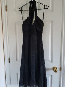 Le Chateau Black and Silver Sparkly Cocktail Dress