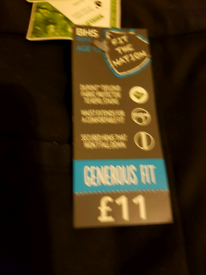 New bhs school trousers age 13, price for both pairs