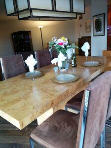 Parsons Wood Dining Set
