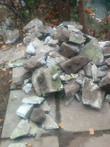 Free Clean Fill and Assorted Concrete Bricks/Patio Stones