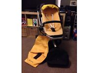 Quinny Buzz yellow and brown pushchair