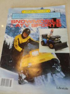 Vintage 1989 Snowmobile & ATV Buyers Guide Magazine