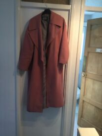 River island wool coat size 16