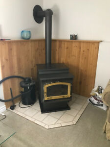 Wood Pellet Stove and Chimney