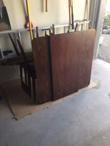Antique Teak Table and Chairs - Kaufman Collingwood