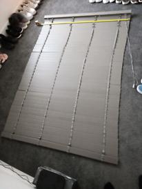 Grey wood faux Venetian blinds