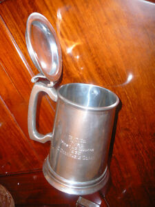 chope bière/tasse antique étain Birks2132 made in England 1963 West Island Greater Montréal image 4